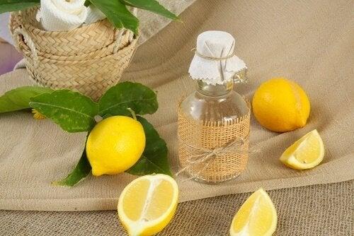 Limone e aceto vetri e finestre