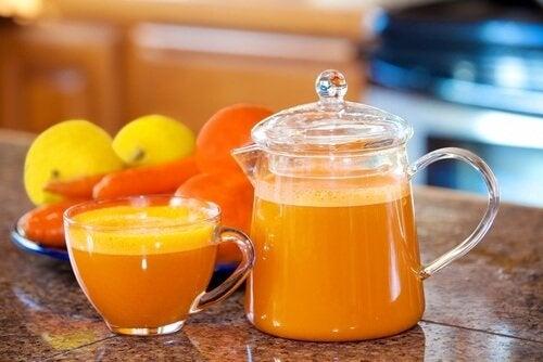 Succo a colazione agrumi
