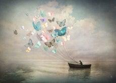 Uomo-in-barca-con-farfalle