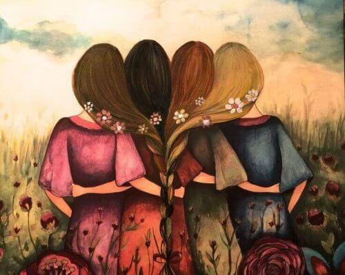 abbraccio-tra-quattro-amiche