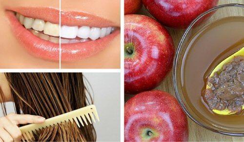 8 usi cosmetici dell'aceto di mele