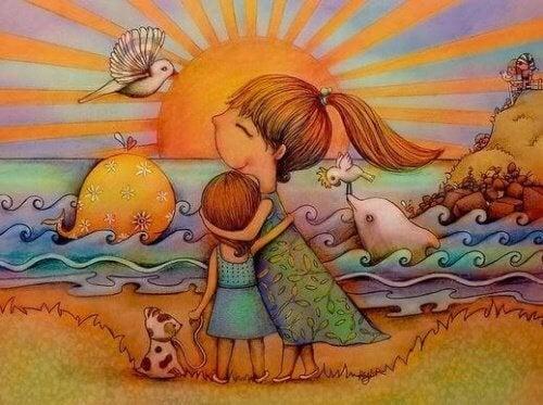 il miglior abbraccio tra mamma figlia