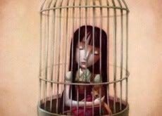 famiglie tossiche e bambina in gabbia