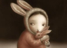bambina vestita da coniglio bambini