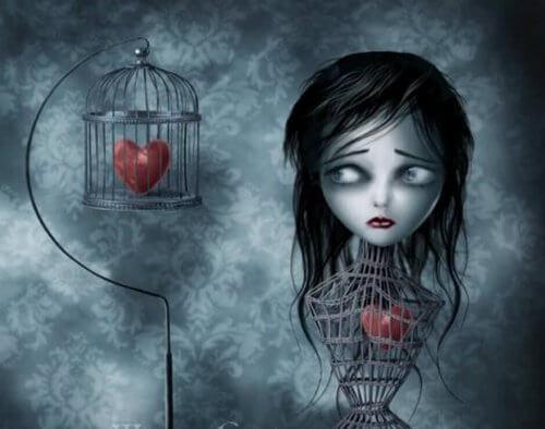 famiglie tossiche mettono il cuore in gabbia