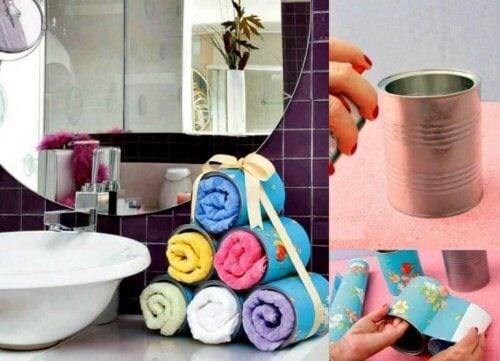 contenitore asciugamani bagno
