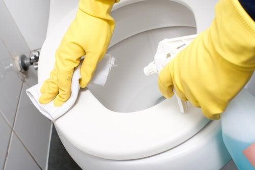 pulizia gabinetto bagno