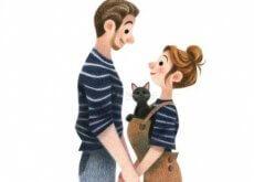 Coppia-con-un-gatto qualcuno