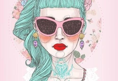 Donna-con-occhiali vita