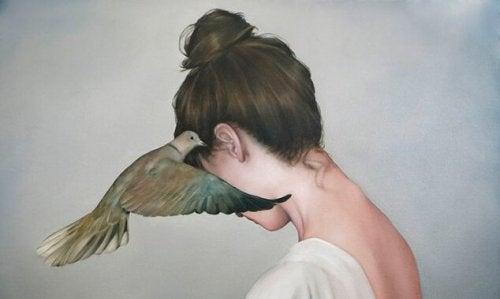 Donna e colomba