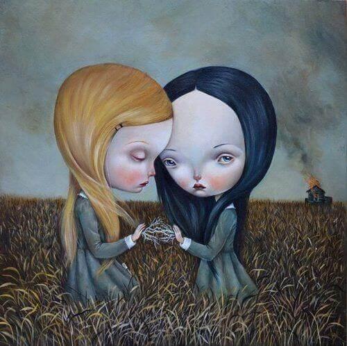 bambine tristi e sole nel campo carenze affettive