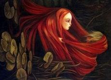 donna capelli rossi triste elemosinare amore