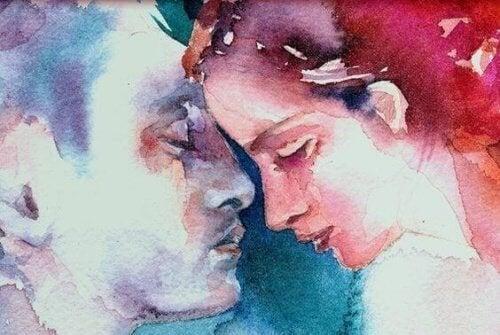 coppia che si guarda in viso fine relazione