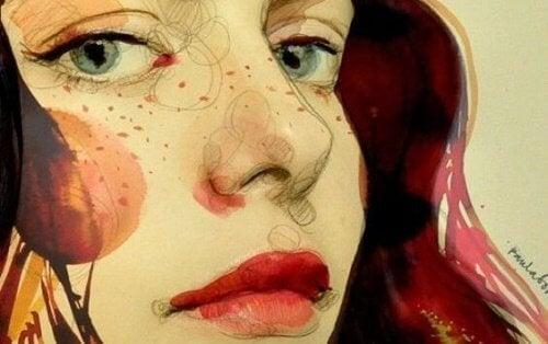 Ritratto di donna con lentiggini