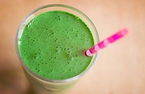 frullato verde coi piselli