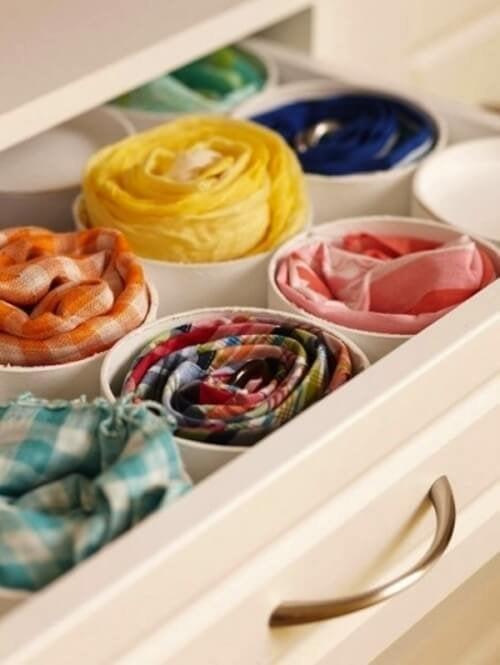 accessori nei cassetti armadio