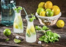 limonata con menta ventre piatto