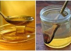 miele e barattolo con acqua e miele