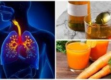 tosse polmoni, miele, succo di carota
