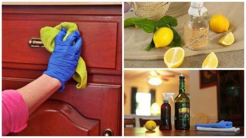 Rimuovere la polvere dai mobili con un prodotto naturale