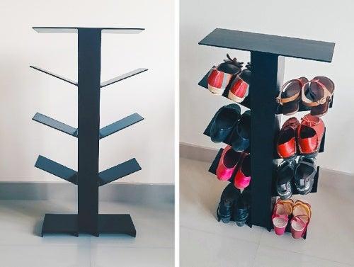Ripiani verticali per scarpe