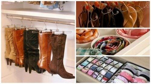 17 idee interessanti per ordinare l'armadio e guadagnare spazio