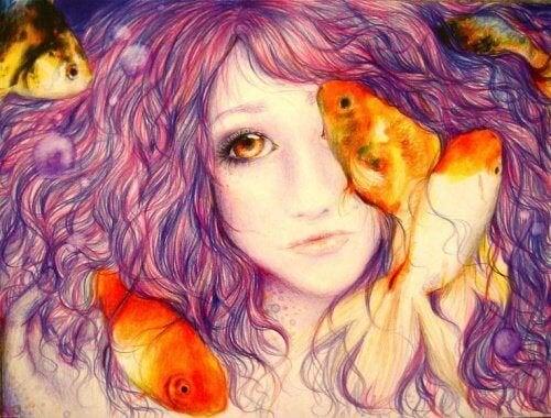 sirena-capelli-viola elemosinare amore
