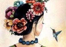 donna e colibrì egoista