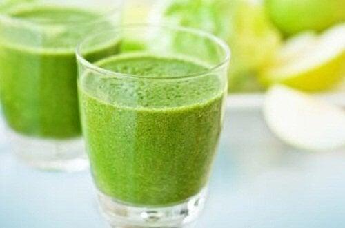 succo verde a base di frutta