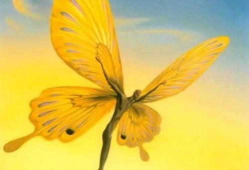 uomo farfalla giallo priorità