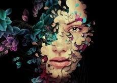 viso di donna colorato