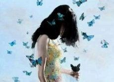 Donna-con-farfalle relazioni liquide