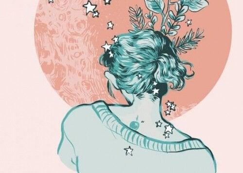 Donna con stelle regalare amore