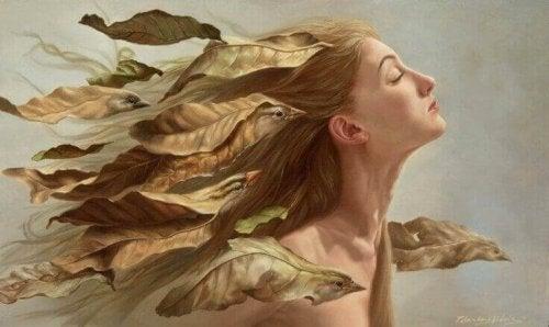 Donna-con-uccelli-tra-i-capelli noi stessi