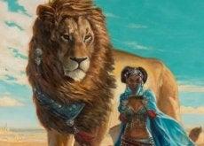 Leone e donna