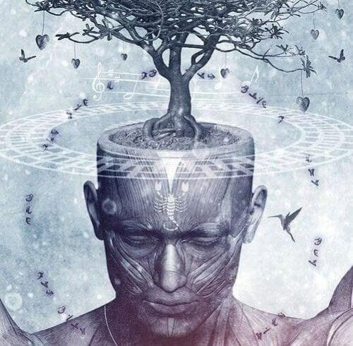 mente con musica e natura