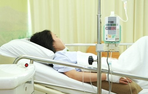 Ragazza-in-ospedale sindrome da shock
