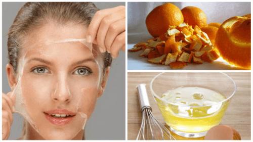 Albume e scorza d'arancia per tonificare la pelle
