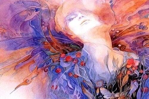 Rappresentazione donna colorata
