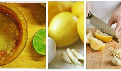 Aglio e limone: rimedio contro il grasso addominale