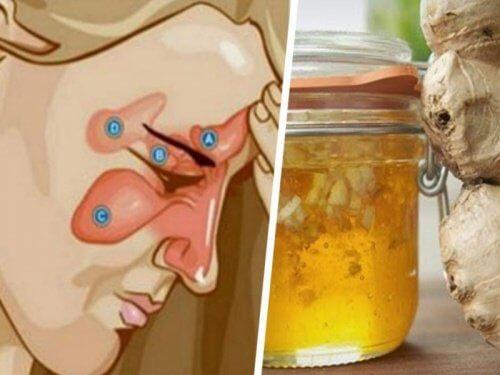 Mescolare due ingredienti per alleviare la sinusite