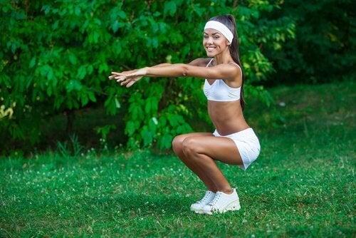 squat cellulite