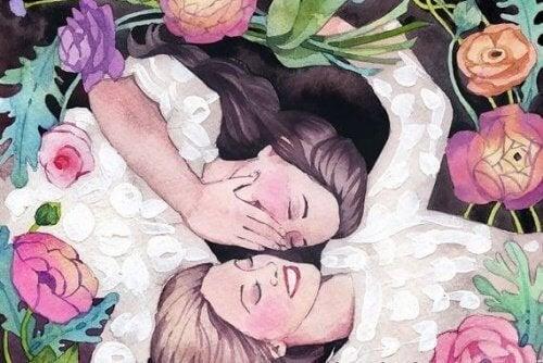 amiche-circondate-dai-fiori