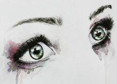 occhi di donna subiscono violenza