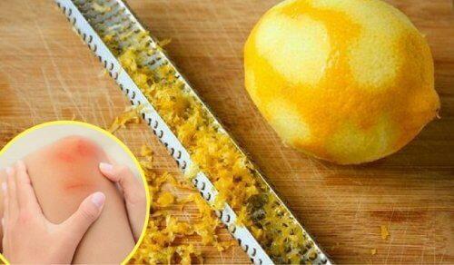 Scorza di limone per calmare il dolore alle articolazioni