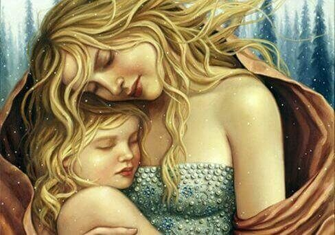 Gli abbracci dei figli sono regali per il cuore