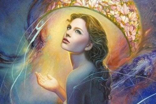 donna-circondata-dalla-luce