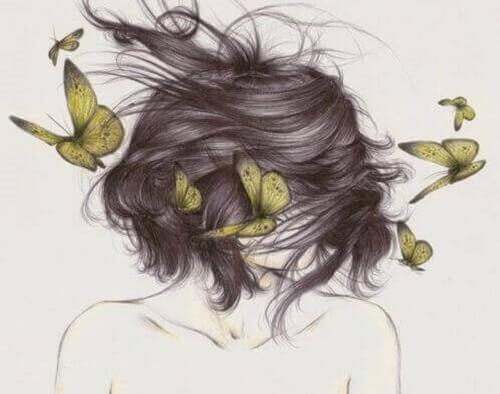 farfalle tra i capelli