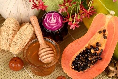 papaya miele e candela