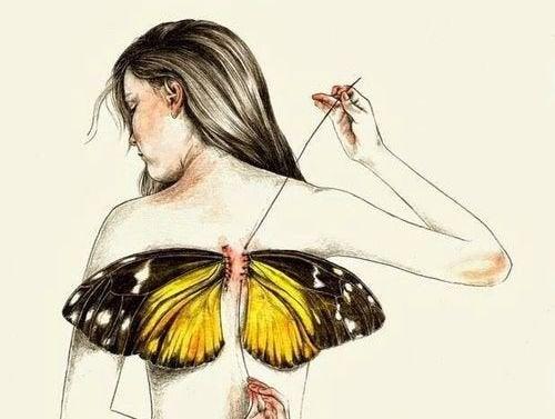 Tutti nasciamo con le ali, ma a volte la vita ce le strappa
